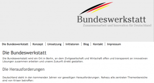 Screenshot Webseite Bundeswerkstatt